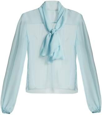 Dolce & Gabbana Tie-neck silk-chiffon blouse