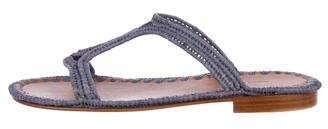 Carrie Forbes Woven Raffia Sandals w/ Tags