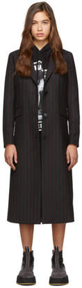 McQ Black and Red Tailored Blazer Coat