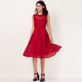Women's LC Lauren Conrad Mockneck Floral Lace Dress $68 thestylecure.com