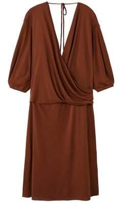 Violeta BY MANGO Wrap neckline dress