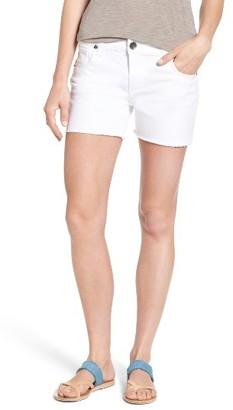 Women's Kut From The Kloth Gidget Fray Hem Denim Shorts $69 thestylecure.com