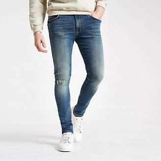 River Island Mid blue Danny super skinny jeans