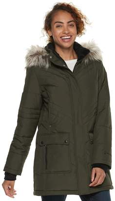Free Country Women's Faux-Fur Trim Hooded Quilted Jacket
