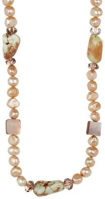 Stephen Dweck Sterling Silver Pearl & Stone Necklace