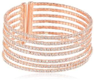 "Gap Oroclone ""Crystal Set"" Gold Plated 7 Row Bangle Bracelet"