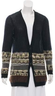 Missoni Mohair-Blend Textured Cardigan Black Mohair-Blend Textured Cardigan