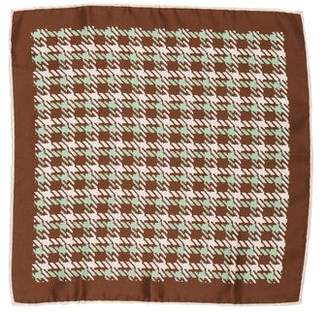 Barneys New York Barney's New York Houndstooth Silk Pocket Square w/ Tags