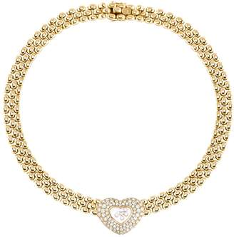 Chopard Happy Diamonds yellow gold necklace