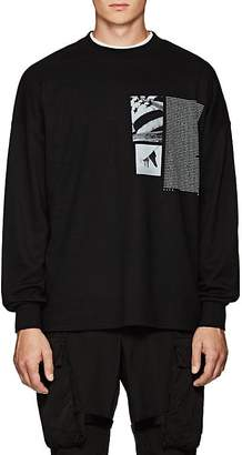 ALYX Men's Flag-Graphic Cotton-Blend Long-Sleeve T-Shirt