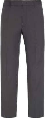 Prada Striped Wool Mohair-Crepe Slim-Leg Pants