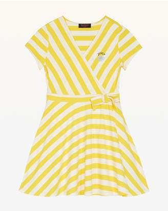 Juicy Couture Awning Stripe Jersey Wrap Dress for Girls