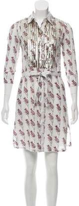 Figue Sequined Printed Dress