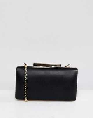 True Decadence True Decadance Black Square Box Clutch Bag