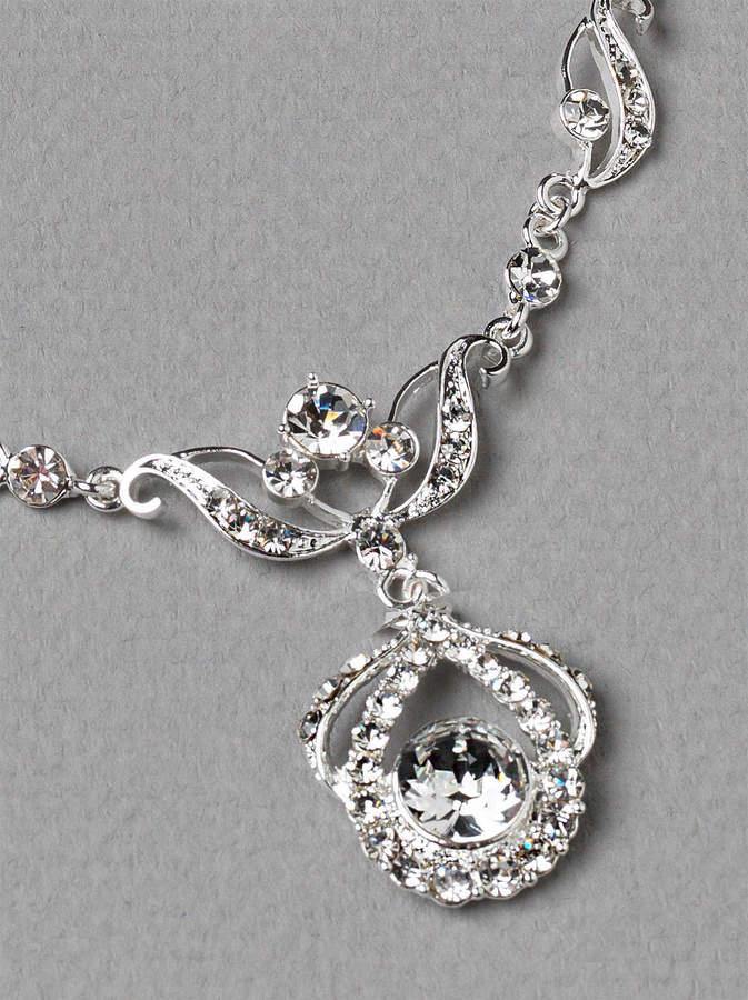 Etsy Crystal Wedding Jewelry Set, Rhinestone Bridal Jewelry Set, Silver Wedding Jewelry Set, Vintage Brid