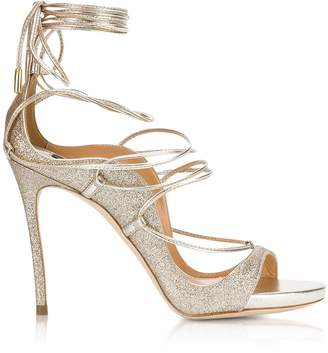 DSQUARED2 Golden Glitter High Heel Sandals