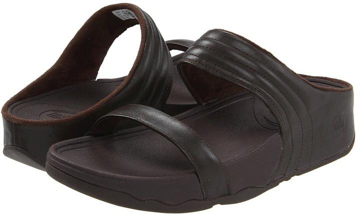 FitFlop Walkstar Slide Leather (Chocolate) - Footwear