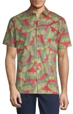 Saks Fifth Avenue Hawaii-Print Cotton Button-Down Shirt