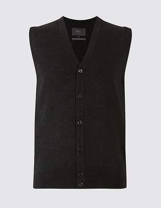 Marks and Spencer Pure Merino Wool Waistcoat