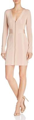 GUESS Mirage Zip-Front Body-Con Dress