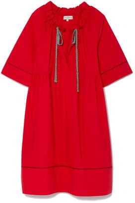 Lee Mathews Miller Poplin Dress with Side Ties
