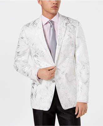 Tallia Men Slim-Fit Floral Linen Sport Coat