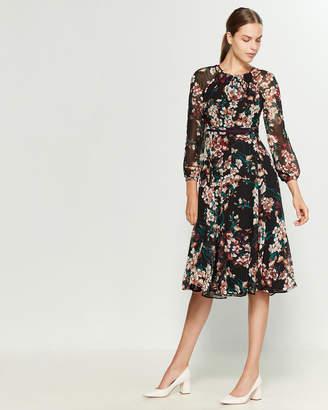 Tommy Hilfiger Romantic Azalea Chiffon Midi Dress