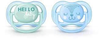 Avent Naturally Philips Ultra Air Pacifier 0-6m Fashion Decos -Blue/Green 2pk