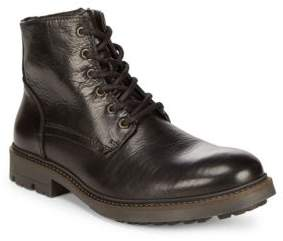 Black & Brown Black Brown Leather Work Boot