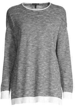 Eileen Fisher Roundneck Organic Linen Cotton Sweater