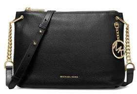 MICHAEL Michael Kors Large Lillie Pebbled Leather Messenger Bag