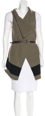 Joie Sleeveless Colorblock Wool Cardigan w/ Tags