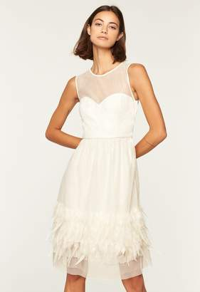 Milly Embroidered Feather Margot Dress