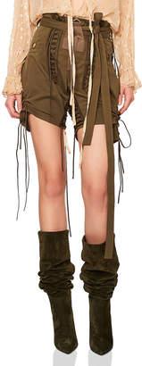 Saint Laurent Slouchy Gabardine Lace Up Shorts