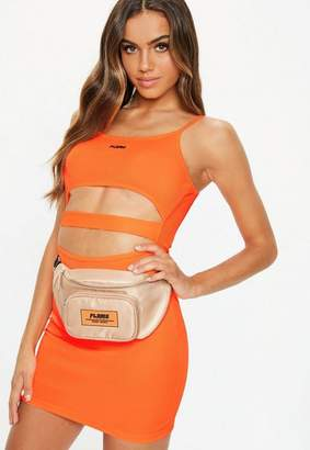 Missguided Fanny Lyckman X Orange Rib Cut Out Bodycon Dress
