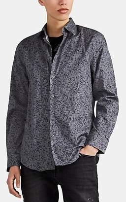 John Varvatos Men's Floral Cotton Jacquard Button-Front Shirt - Gray