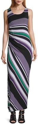 Spense Sleeveless Striped Maxi Dress