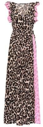 Baum und Pferdgarten Exclusive to Mytheresa – Aiza leopard and floral maxi dress