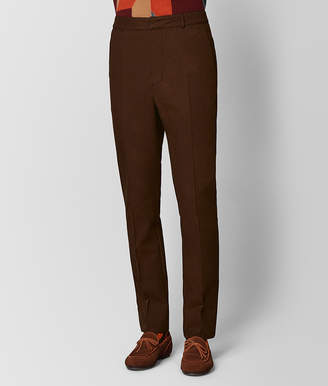 Bottega Veneta DARK LEATHER/NERO WOOL PANT