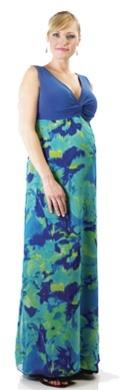 Reveresible maternity maxi dress