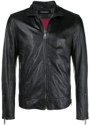 Dolce & Gabbana zipped leather jacket