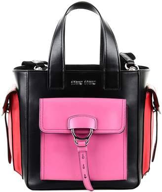 Miu Miu Multicolor Leather Bag With Logo