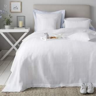 The White Company Waffle Stripe Bedspread & Cushion Covers