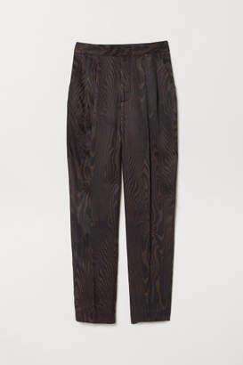 H&M Patterned Suit Pants - Brown