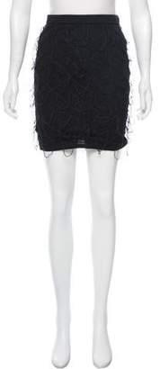 Alice + Olivia Mesh Mini Skirt