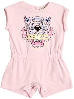Kenzo Tiger Printed Cotton Jersey Romper