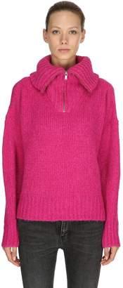 Etoile Isabel Marant Saky Alpaca Blend Rib Knit Sweater