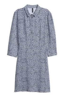 H&M Shirt Dress - Dark blue/floral - Women