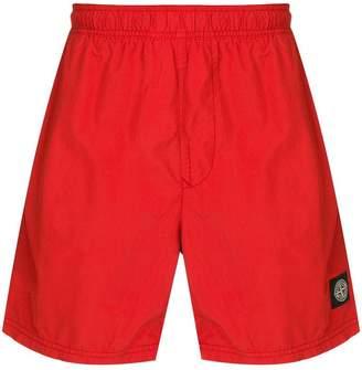 Stone Island logo patch swim shorts