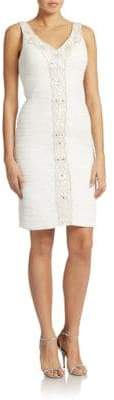 Sue Wong Embellished V Neck Dress